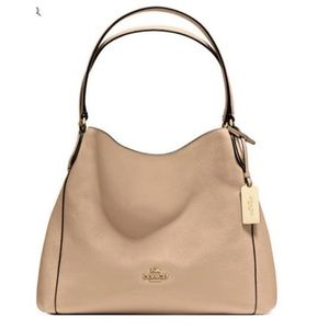Coach Edie Leather Shoulder Bag